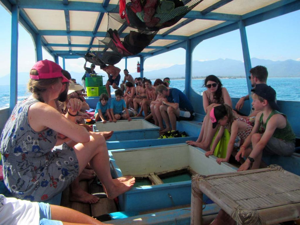 Gili Air Snorkel Boat with Glass Bottom