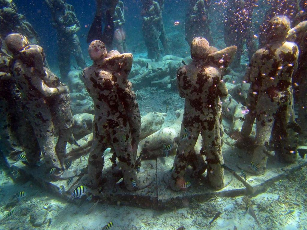Underwater Statues Near Gili Air - Snorkeling Trip Stop