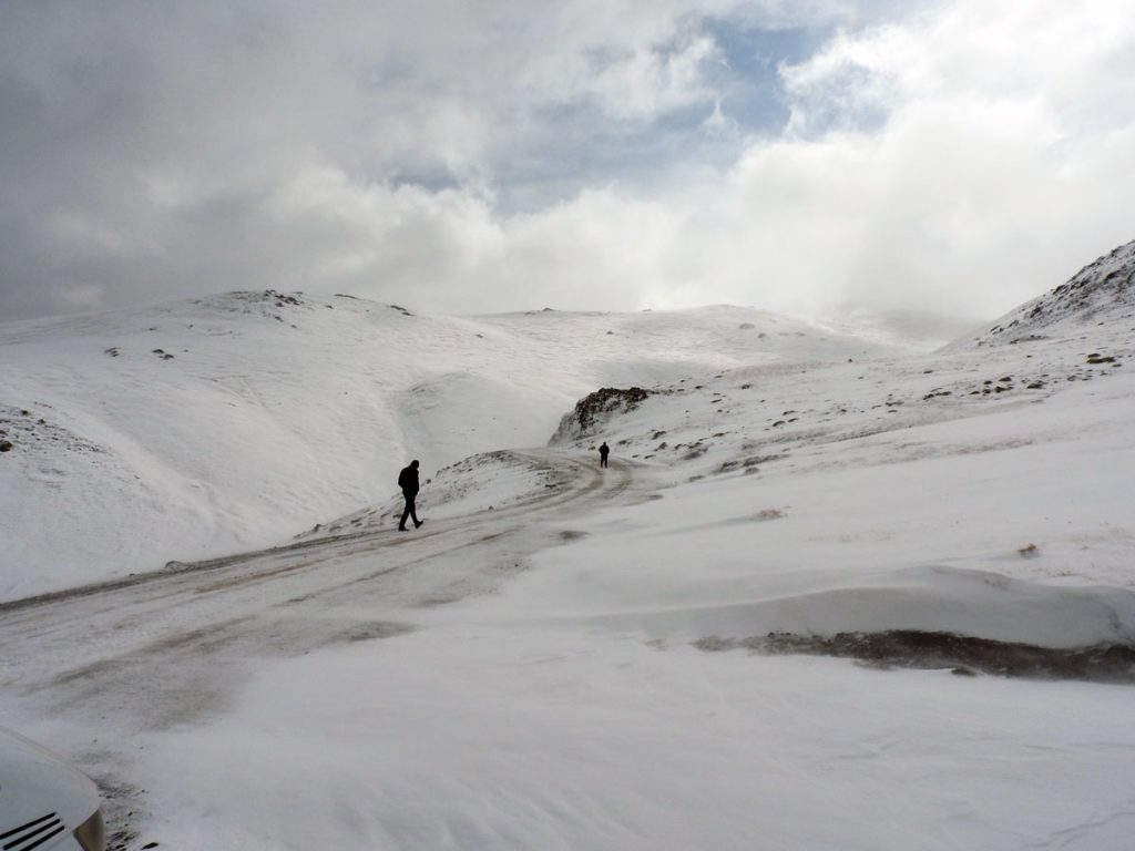 Blizzard in the Mountains of Kyrgyzstan