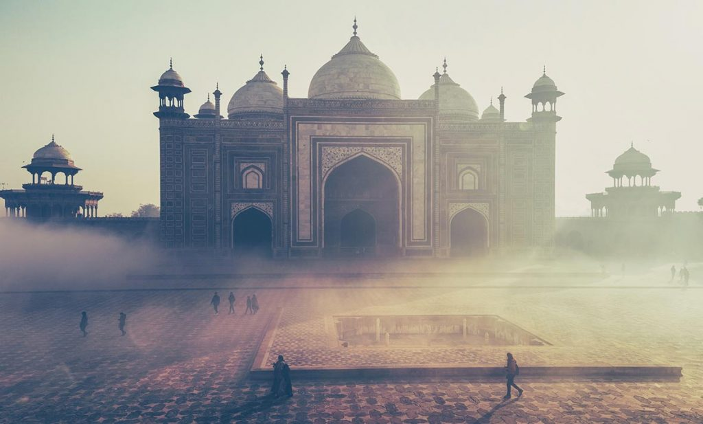 Outer Buildings at the Taj Mahal at Sunrise