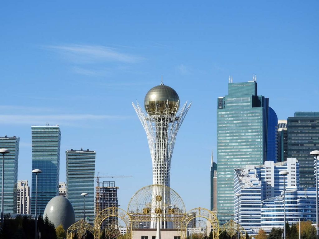 Baiterek Tower in Nur-Sultan or Astana