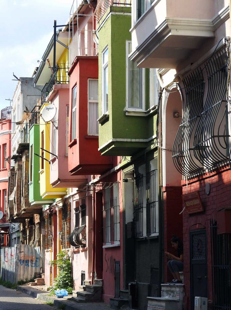 Colorful Houses in Fener Balat, Istanbul, Turkey