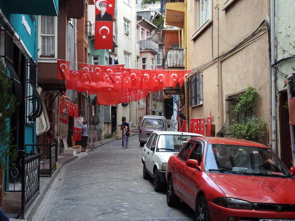 Streets of Fener Balat in Istanbul, Turkey