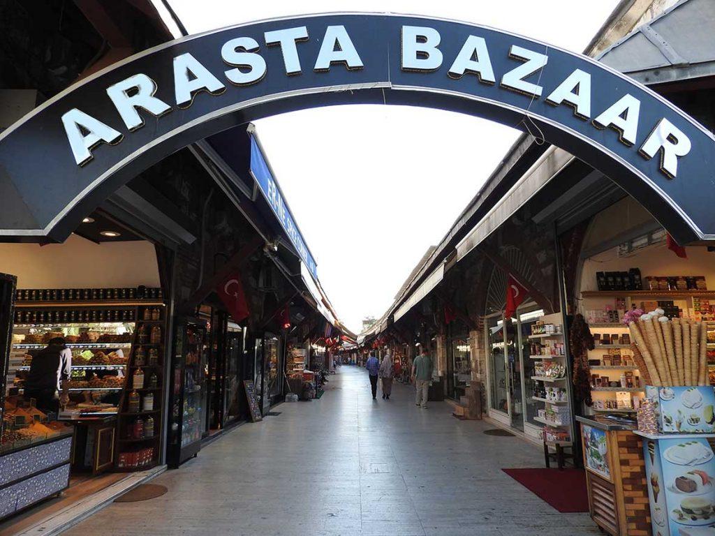 Arasta Bazaar in Istanbul Turkey