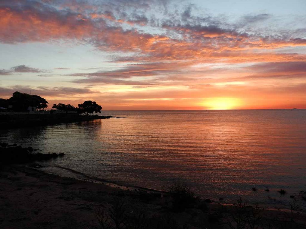 Watching the Sunset in Colonia, Uruguay