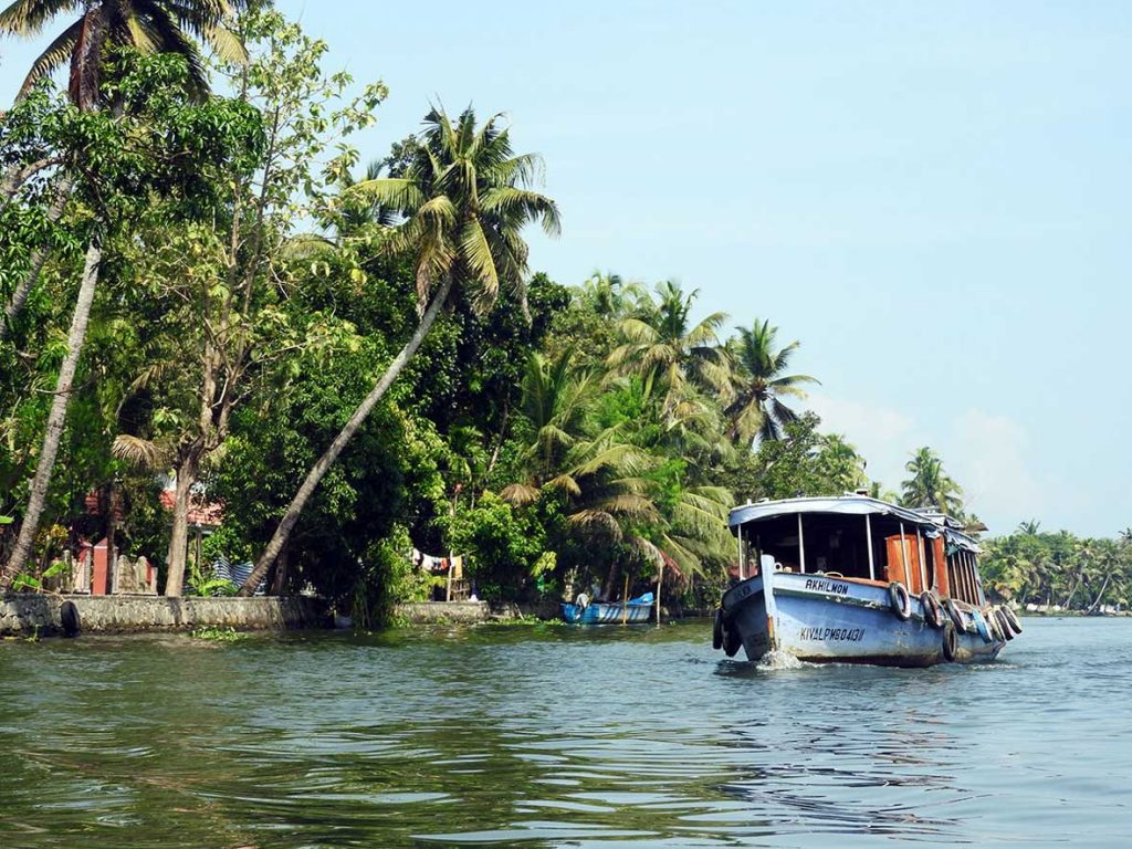 Kerala Backwaters Near Alleppy in South India