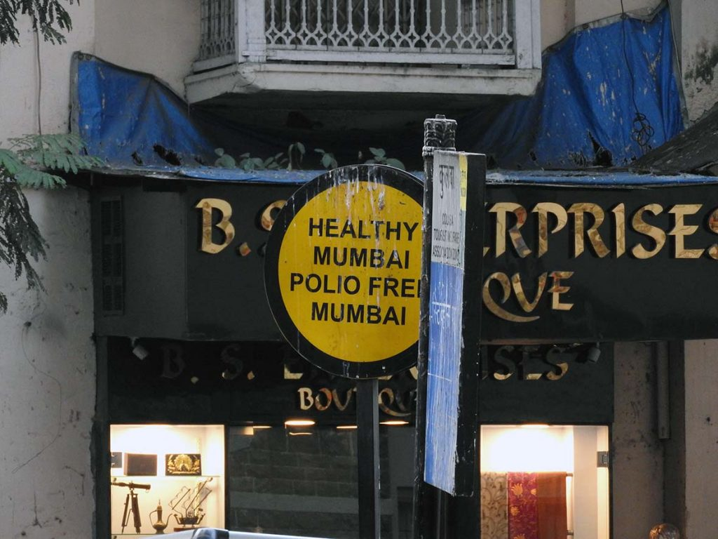 Polio-Free Mumbai Signs in India