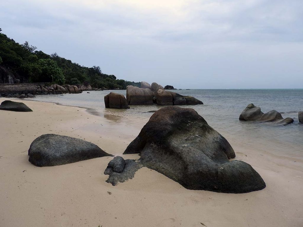 A Rainy Day at the Beach in the Seychelles