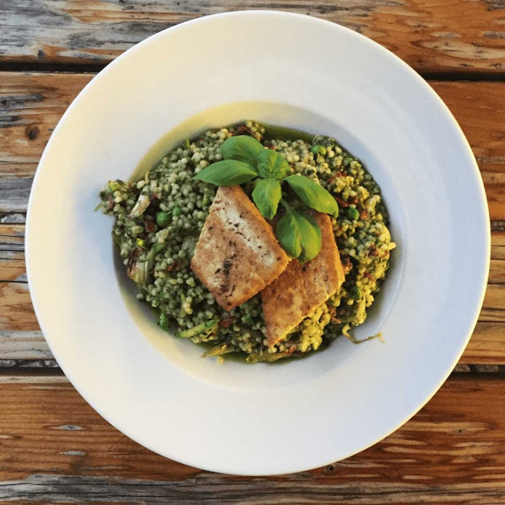 Vegetarian German Food - Barley Risotto with Tofu in Berlin
