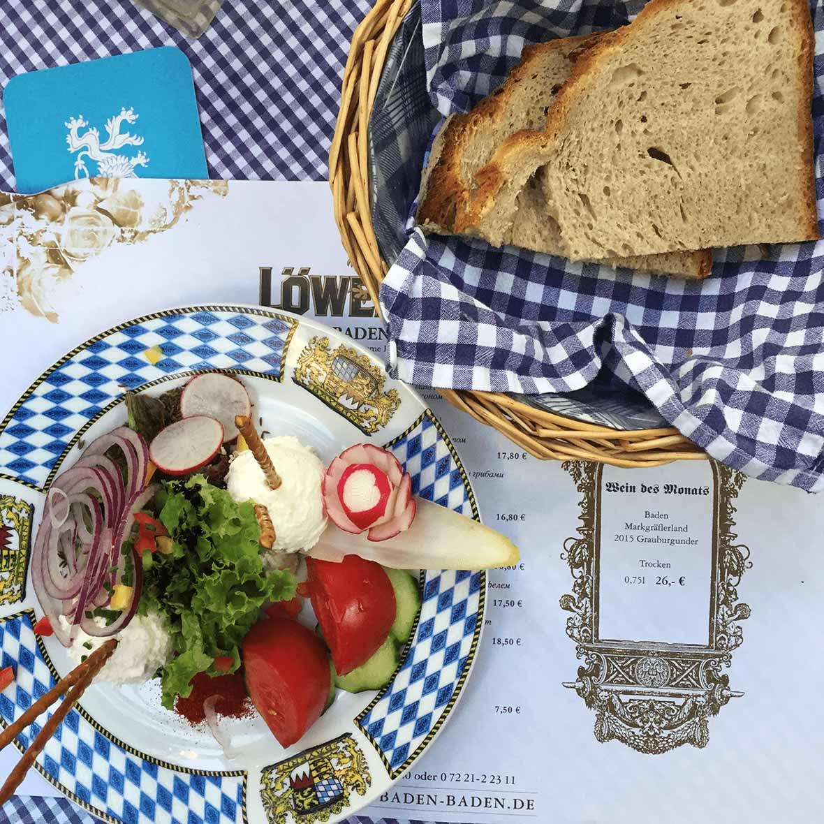 Baden Baden Cuisine Prix german vegetarian food - what to eat (and where!)