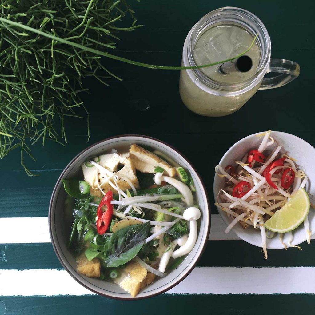 German Vegetarian Food Has International Influences, Like Pho in Berlin