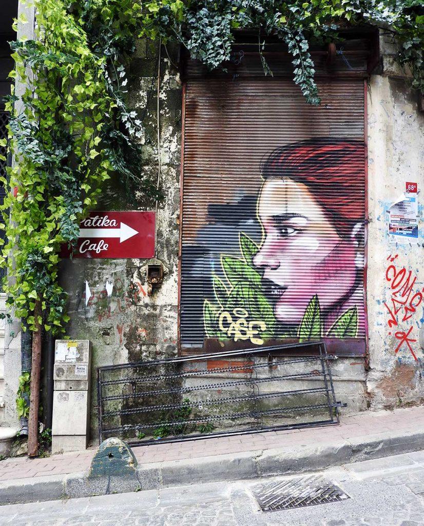 Street Art in Fener Balat Istanbul Turkey